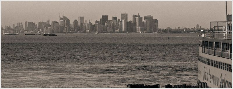 New York skyline seen from Staten Island.