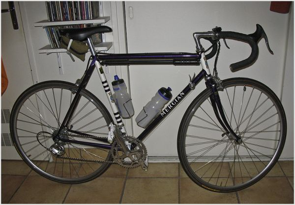 Winter road bike built with a Mercian frame.