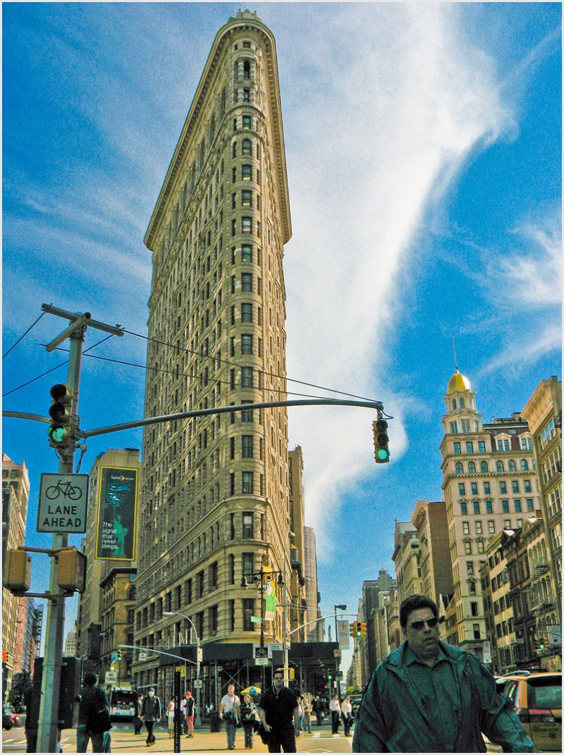 Flatiron Building in New York City.
