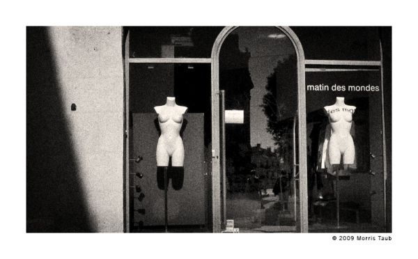 Naked mannequins in bright sunlight