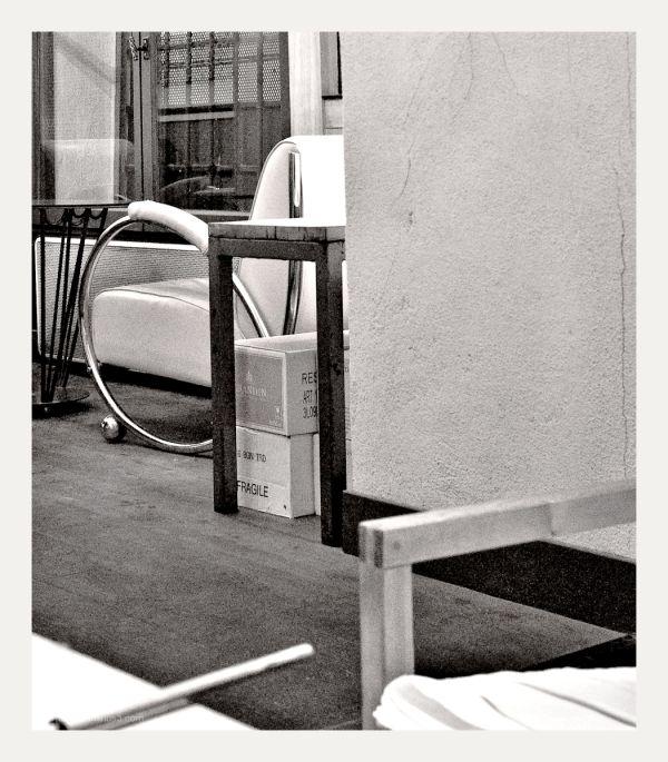 Backroom at a cafe.