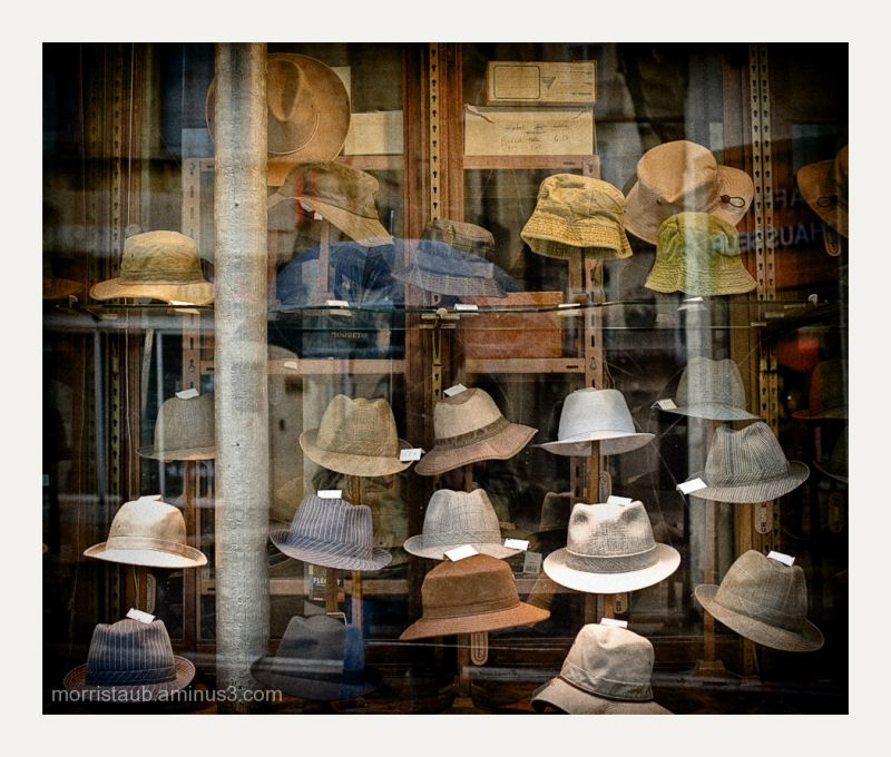 Hat store in Montpellier, France.