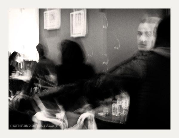 Blur cafe scene.