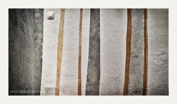 Painted stripes on a wall.