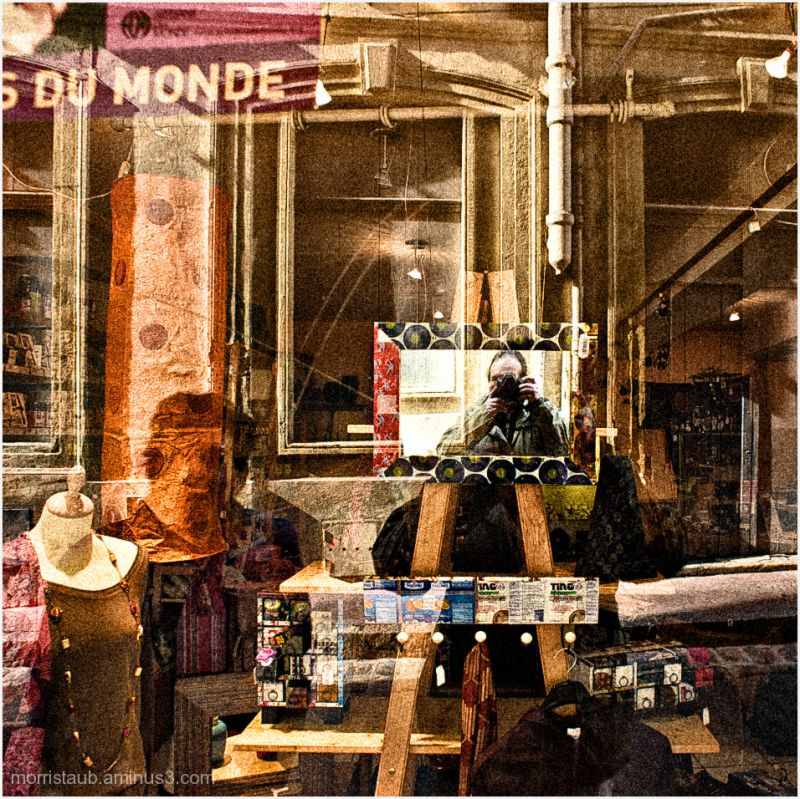 Self-portrait in Montpellier store window.