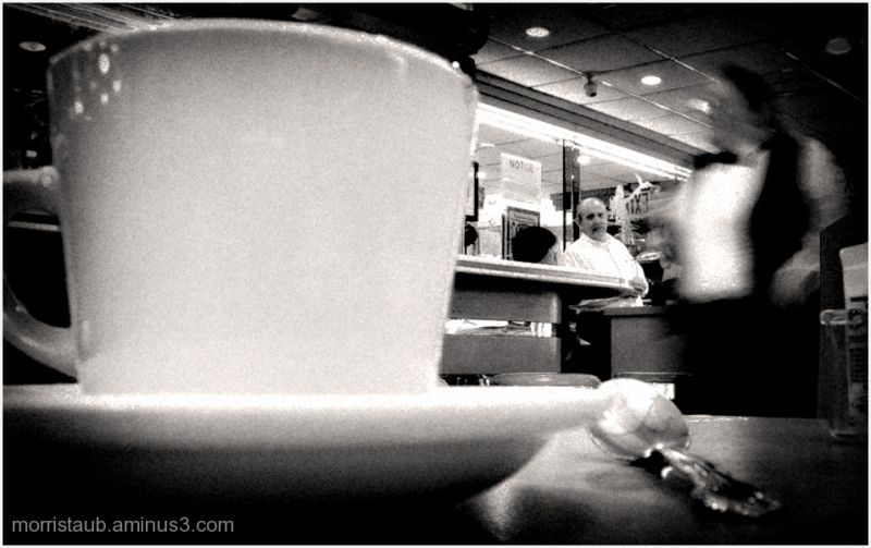 Scene at Mike's Diner on Staten Island, New York.