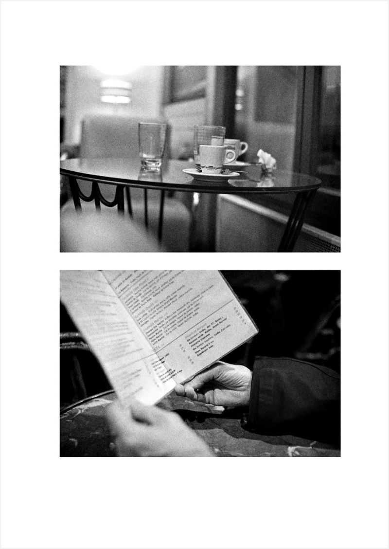 Two images in cafes.