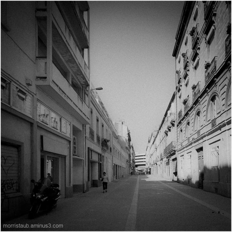Deserted street in Montpellier.