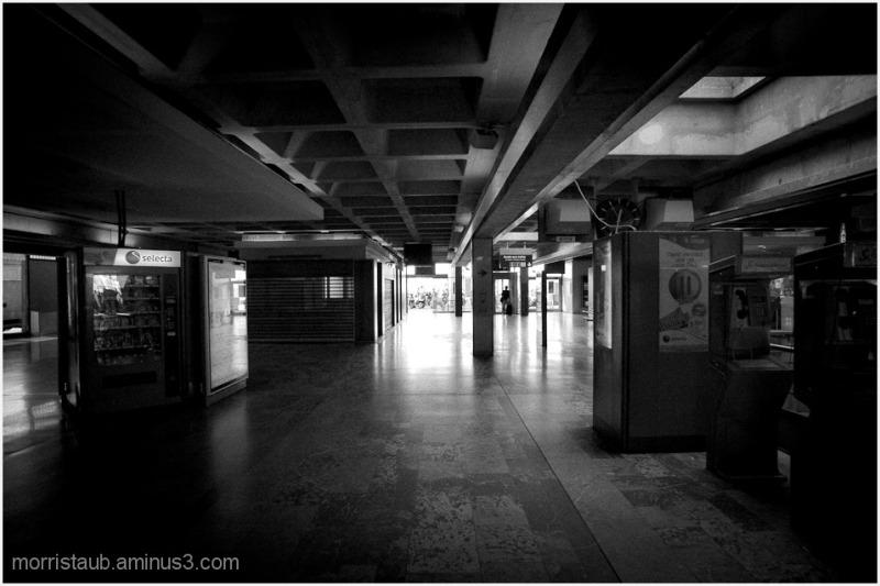 Empty railway station in Montpellier.