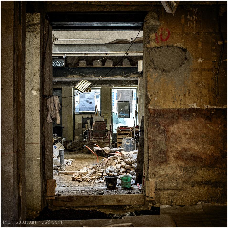 Old store being refurbished.