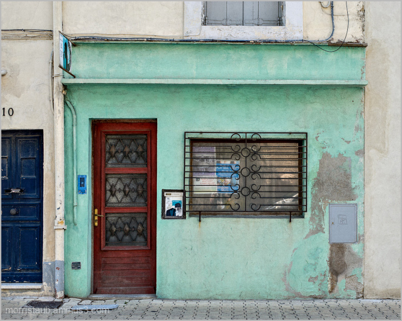 Old storefront in Montpellier, France.