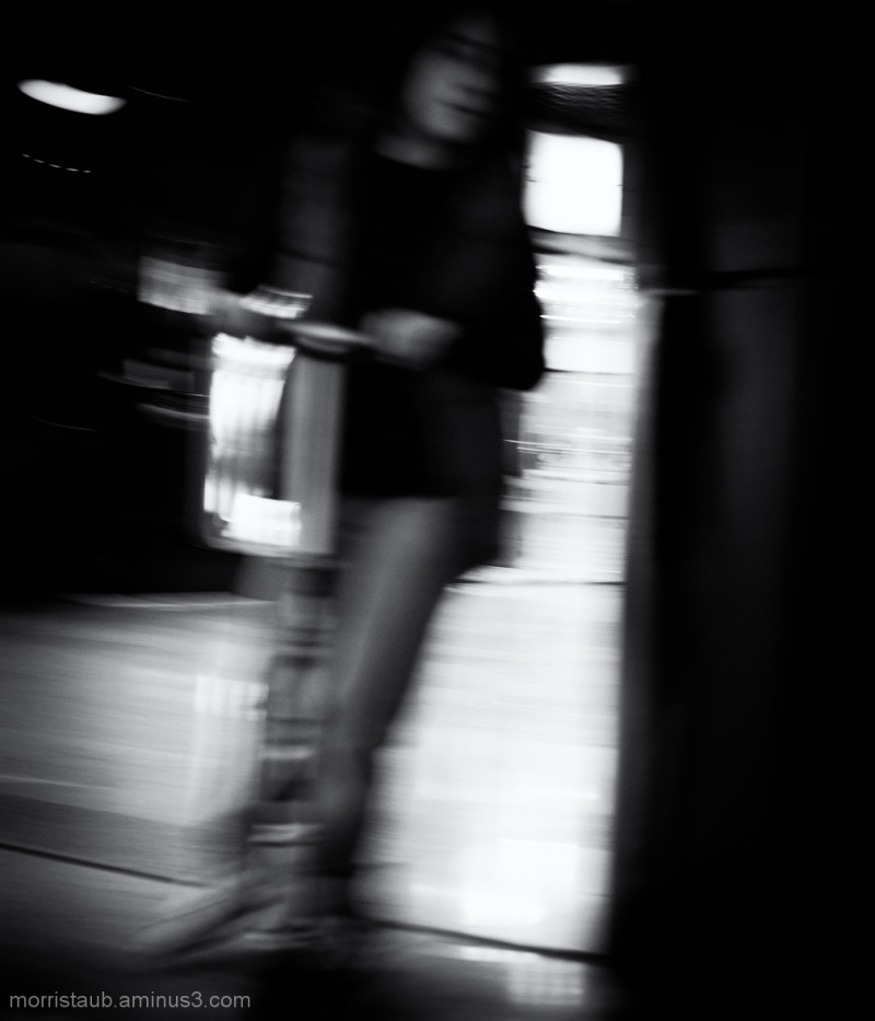 Girl playing at the mall.