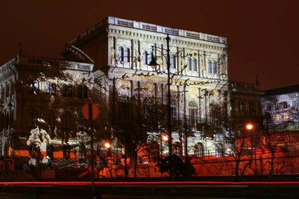 m.city Budapest lightshow Hungary