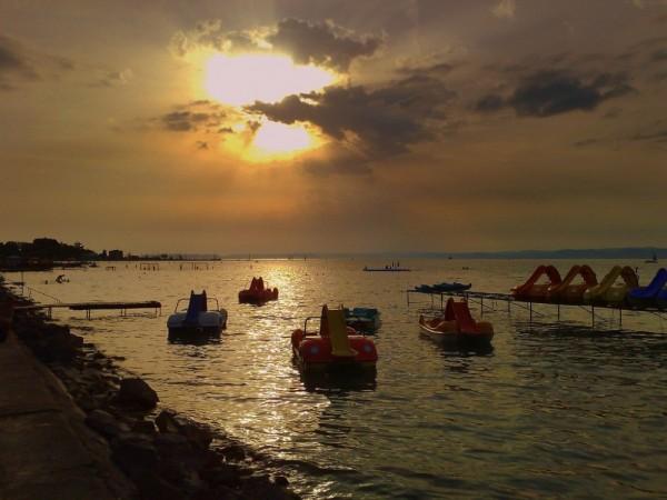 sunset Balaton lake Hungary