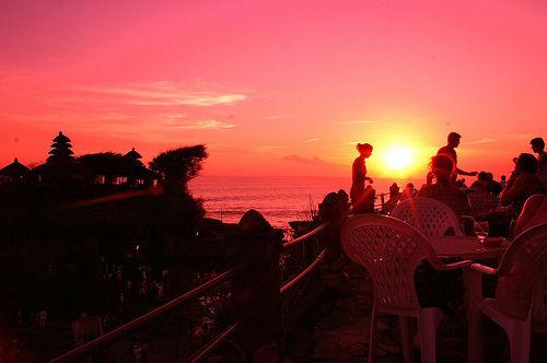 Sunset, Bali, Tanah Lot, Indonesia