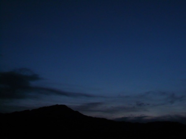 Nocturne in Blue, Mt. Hiei. (比叡山藍摺絵)