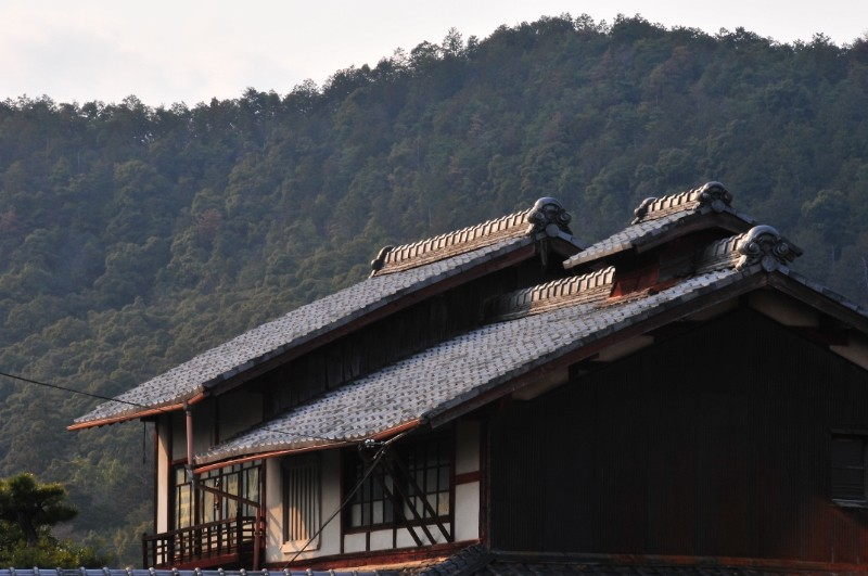 Evening Farmhouse, Iwakura (岩倉)
