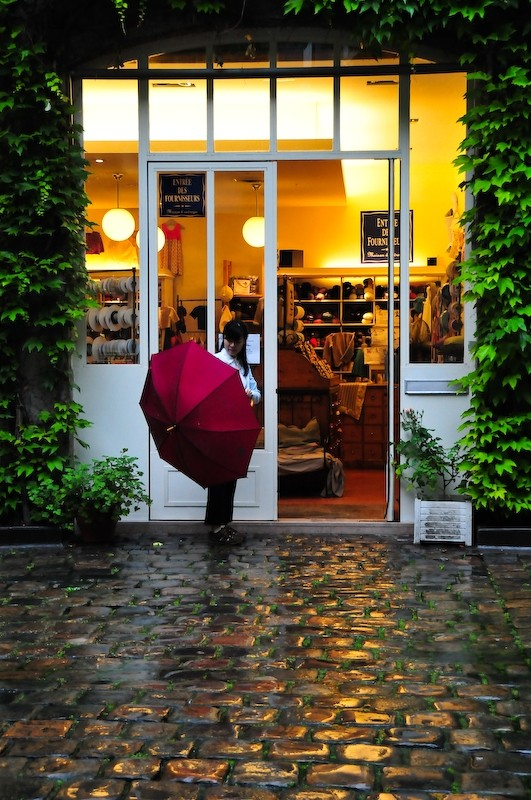 Rainy Day Shopping, Paris