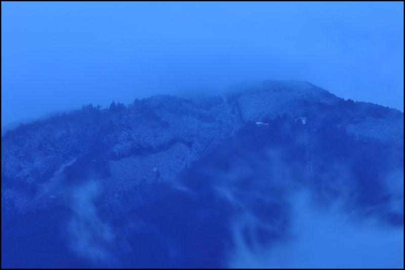 Not Spring Quite Yet: Mt. Hiei, Snowy Twilight