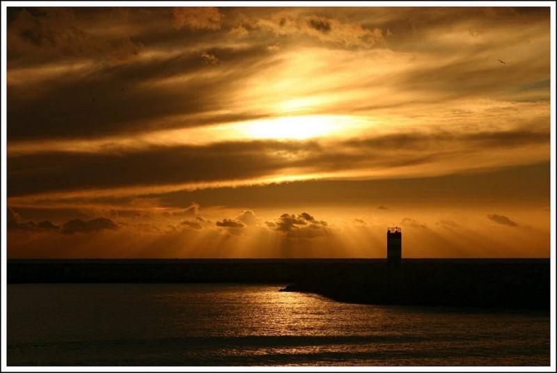 city sunset XVIII