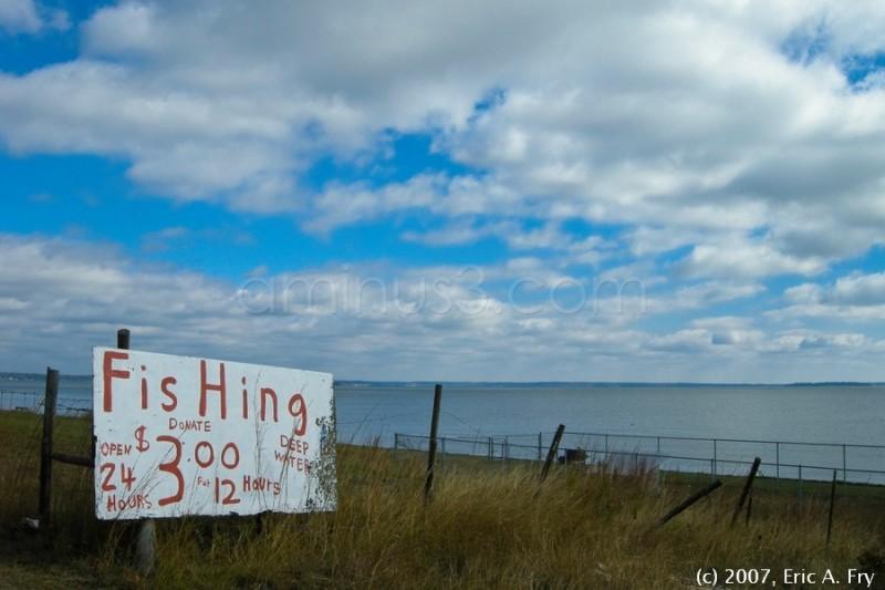 Fishing hole, Lake Livingston, TX