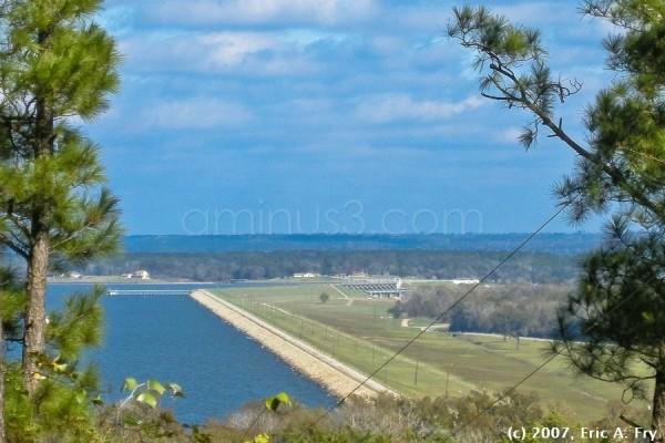 The dam at Lake Livingston, Livingston, TX