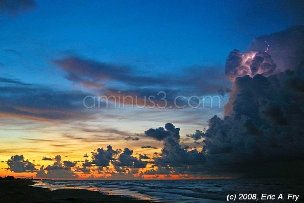Sunrise Storm at Crystal Beach