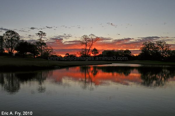 Sunrise at Hermann Park Golf Course