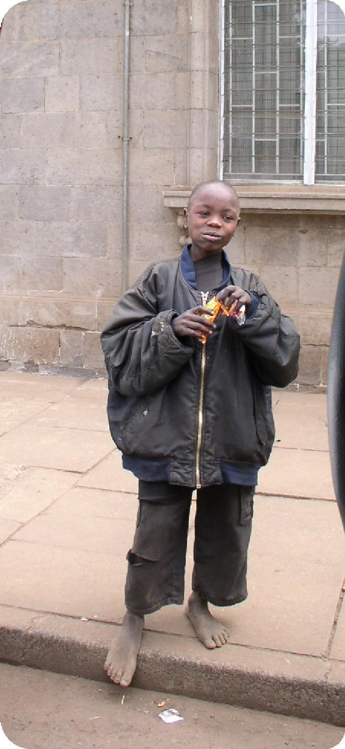 Street boy in Nairobi