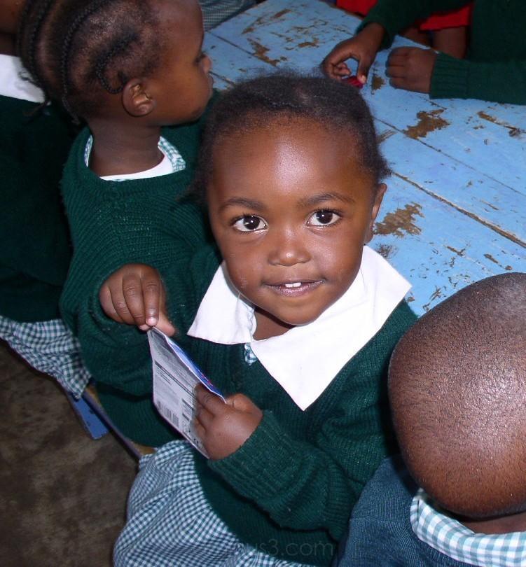 little girl in primary school
