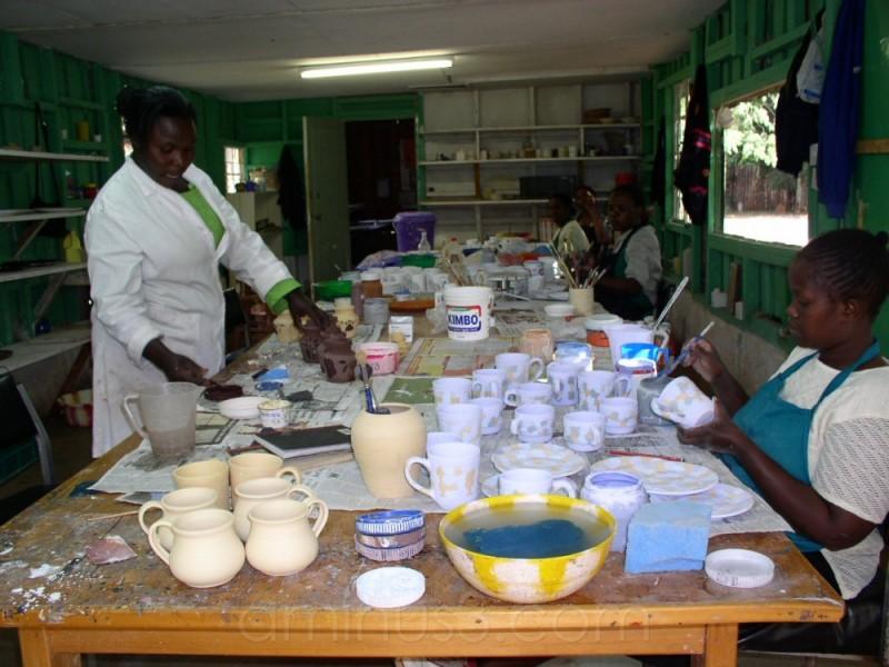 pottery shop at Kazuri