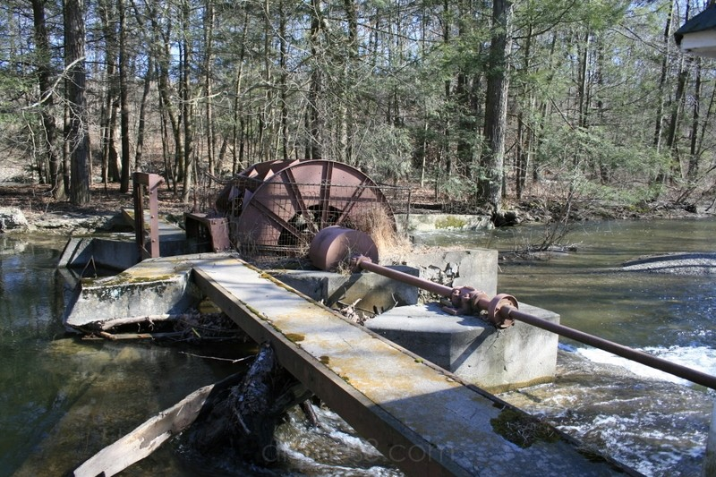 old water wheel in Belvidere