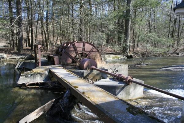old water wheel in Belvidere