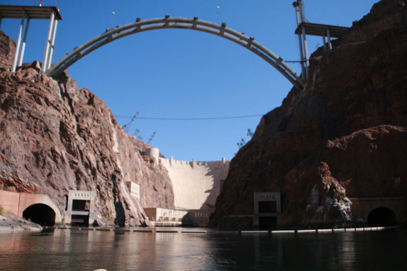 Building a new bridge at Hoover Dam