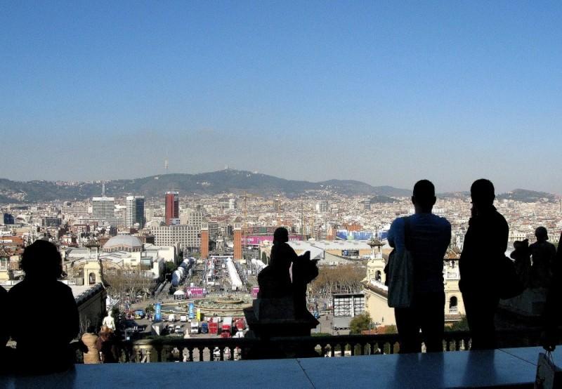 situetas sobre barcelona