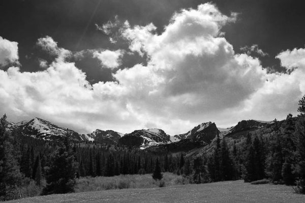 The Rockies in black and white