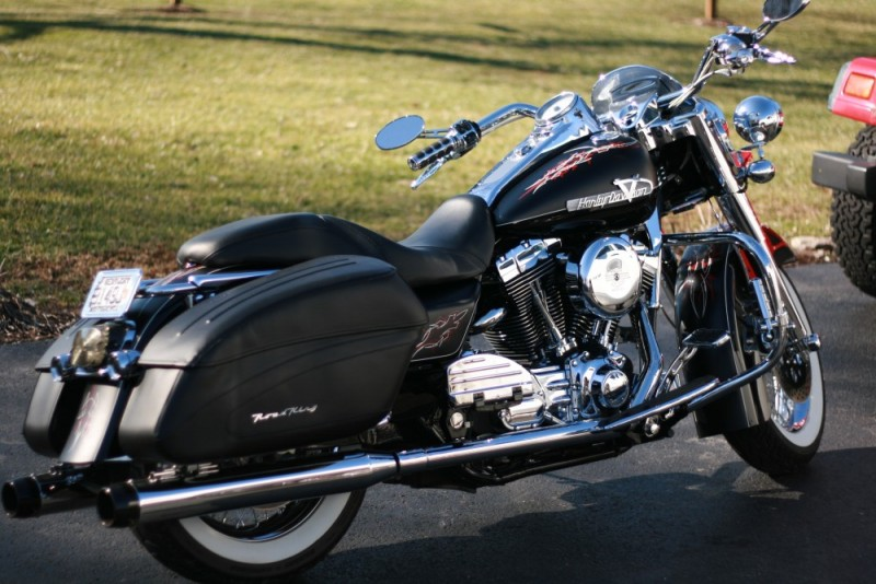 Retro Black Harley