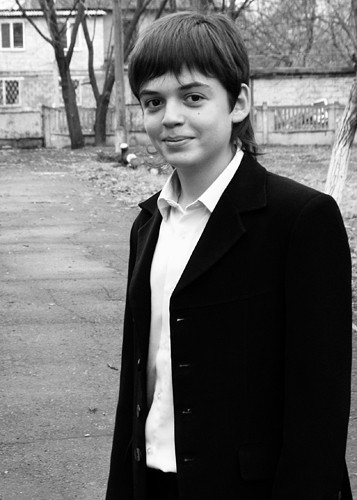 A young Ukrainian teenage boy