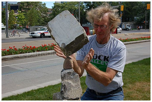 Balancing rocks in Toronto