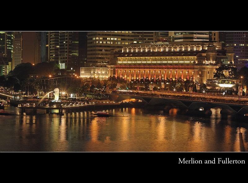 merlion, singapore, fullerton