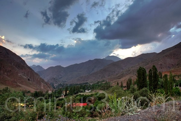 IRAN,  nature of Alborz Mt.s, Garmabdar