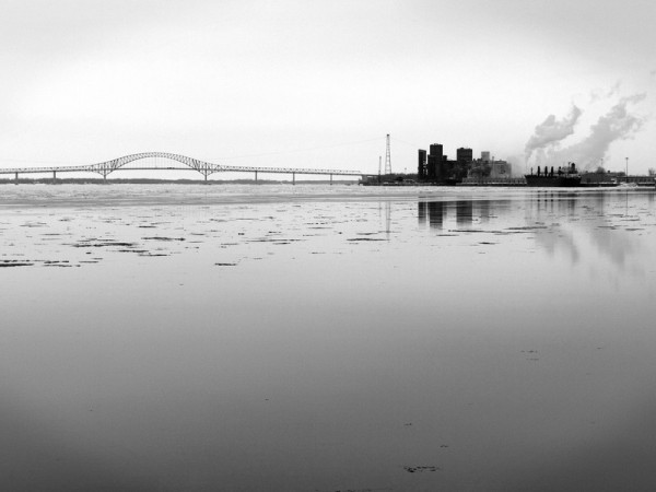 Trois-rivieres harbour, laviolette bridge