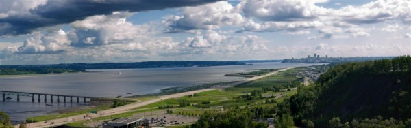 Panorama over Quebec city