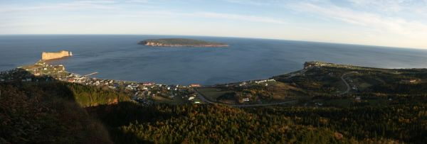 Panorama over Percé