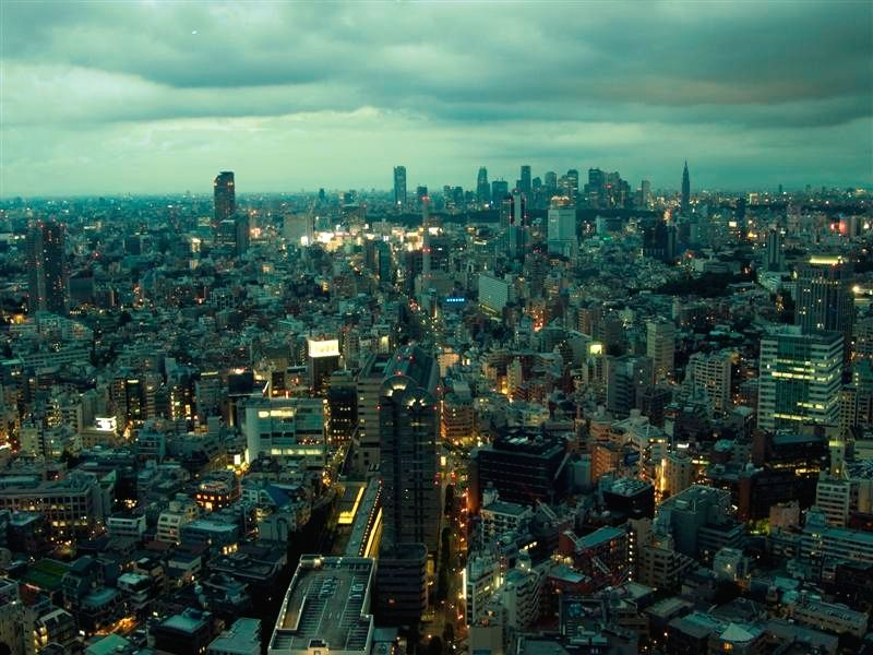 View on Tokyo city