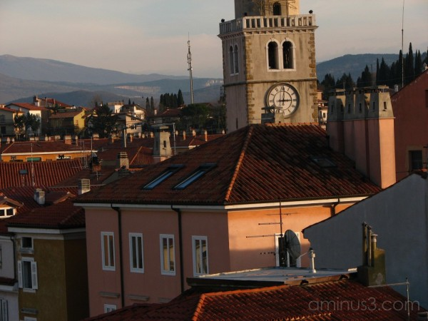 view of the town Muggia, Italy