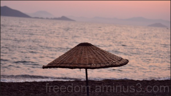 sunset over mediterranean in Fethiye Turkey