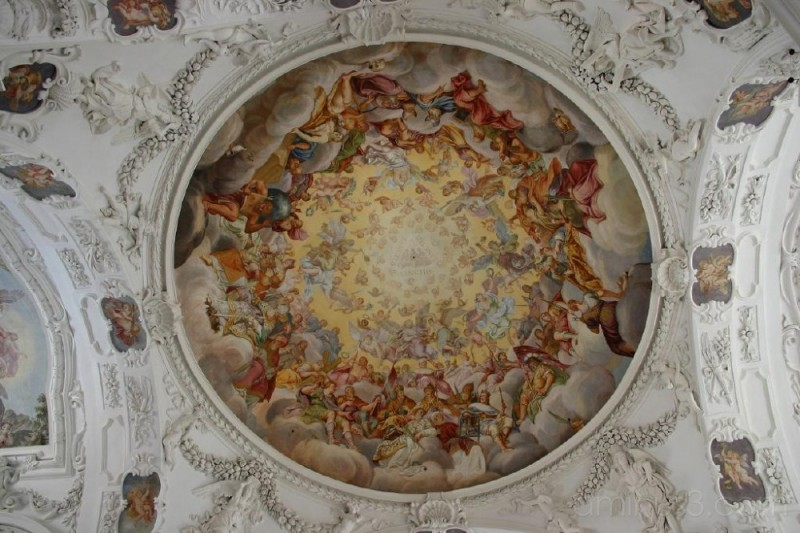 Ceiling fresco, Tegernsee Abbey, Germany
