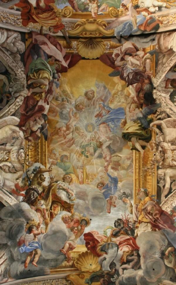 ceiling fresco, S Pantaleo
