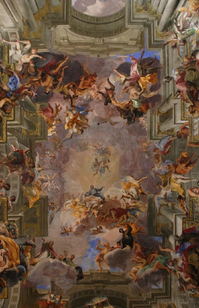 ceiling fresco, S Ignazio, Rome, Italy